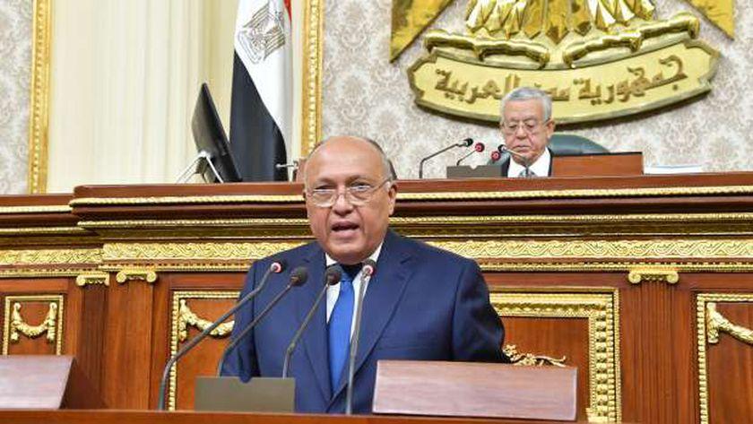 سامح شكري وزير الخارجية أمام مجلس النواب