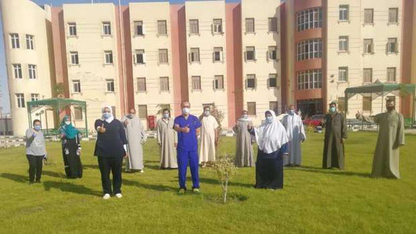 جانب من حالات التعافي داخل مستشفى العزل بمدينة بني سويف الجامعية