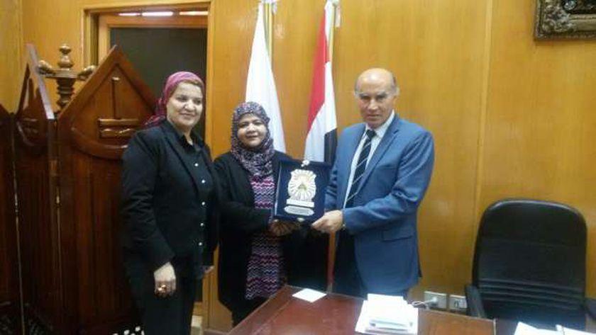 لقاء نائب رئيس جامعة بنها