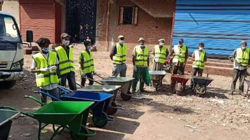 بدء تطبيق المنظومة الجديدة للنظافة بمشتول السوق في الشرقية