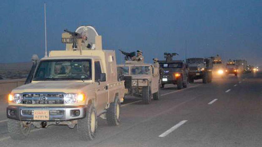 القوات تقوم بعمليات مسح شامل لسيناء بحثاً عن البؤر الإجرامية والإرهابية