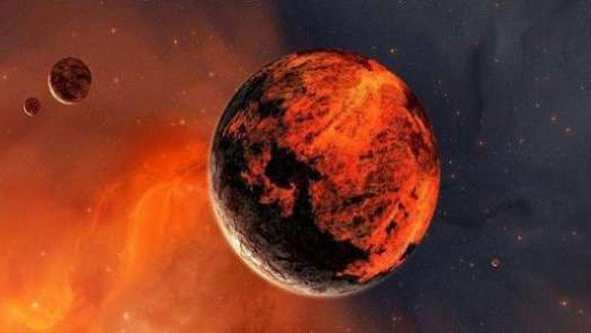 كوكب المريخ الاحمر