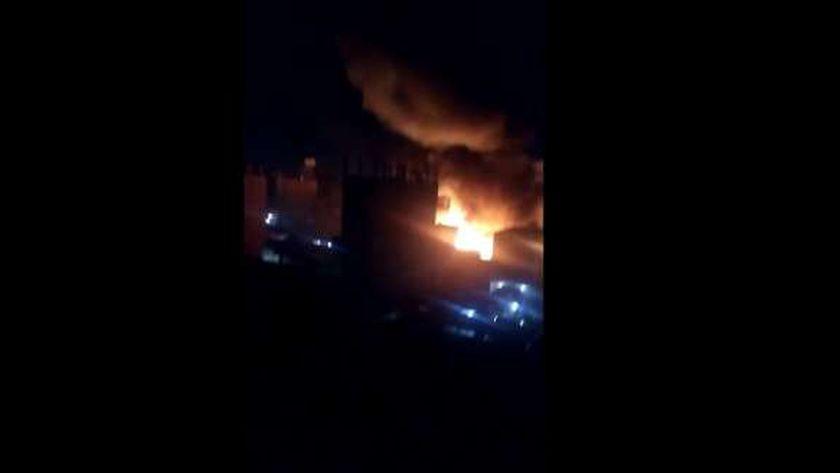 لقطة من الحريق