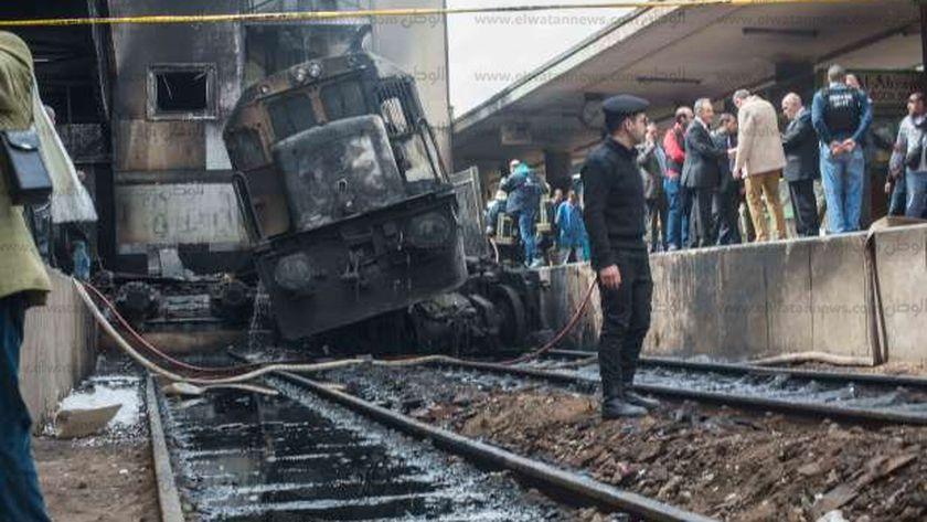 صورة لحريق محطة مصر