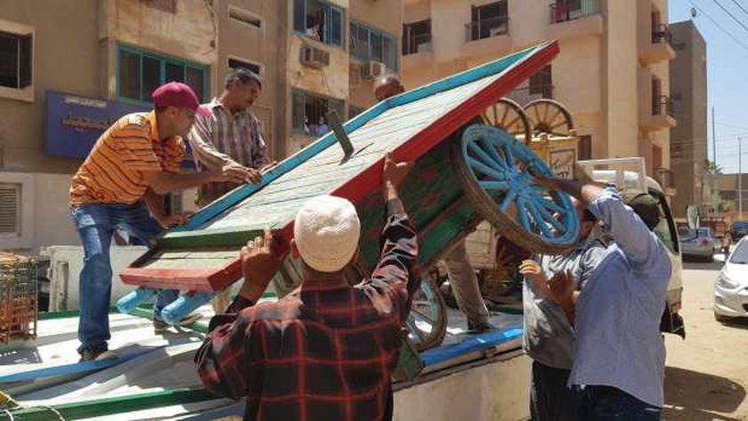 ضبط 393 مضبوطات متنوعة وتحرير 50 محضر اشغال بسوهاج