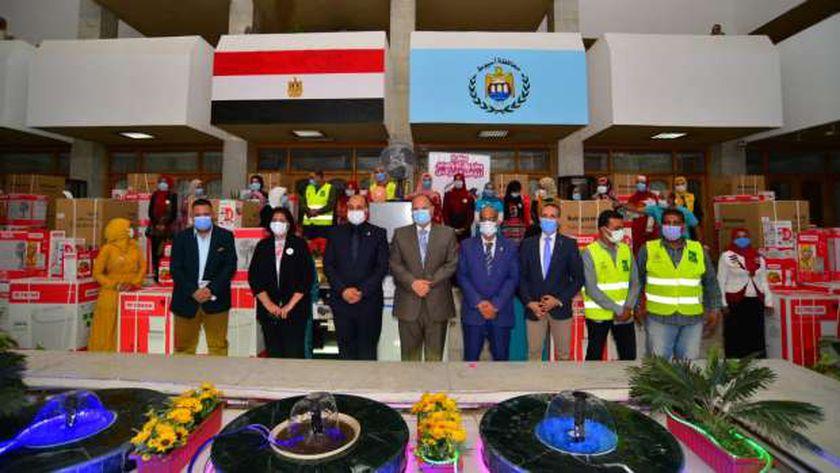أثناء افتتاح مدرسة عرب بخواج الابتدائية بسوهاج