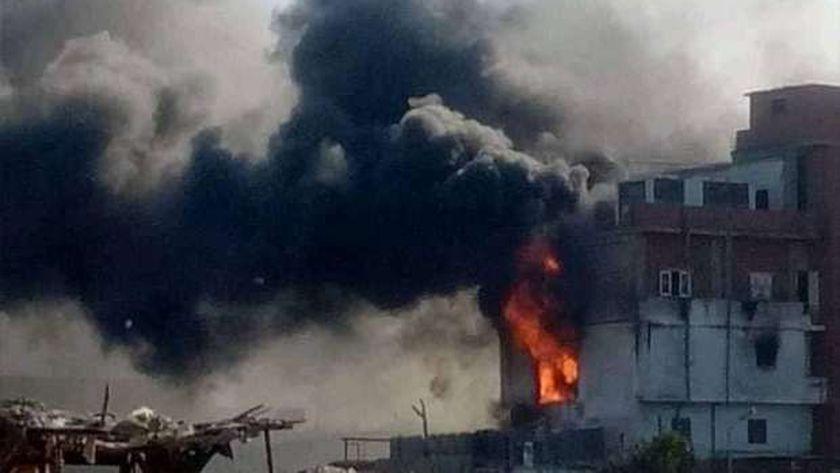 حريق مصنع في الدقهلية