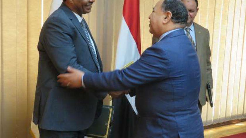 معيط : تعزيز التعاون الاقتصادى مع السودان لتنشيط التجارة البينية