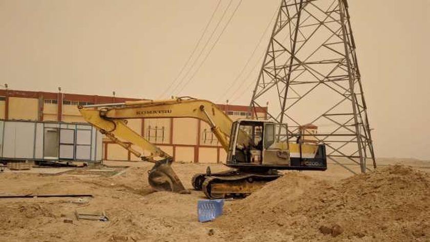 اعمال تطوير شبكة الكهرباء في الاقصر