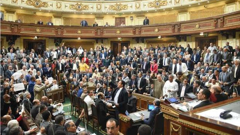 البرلمان أثناء الموافقة على إعادة ترسيم الحدود