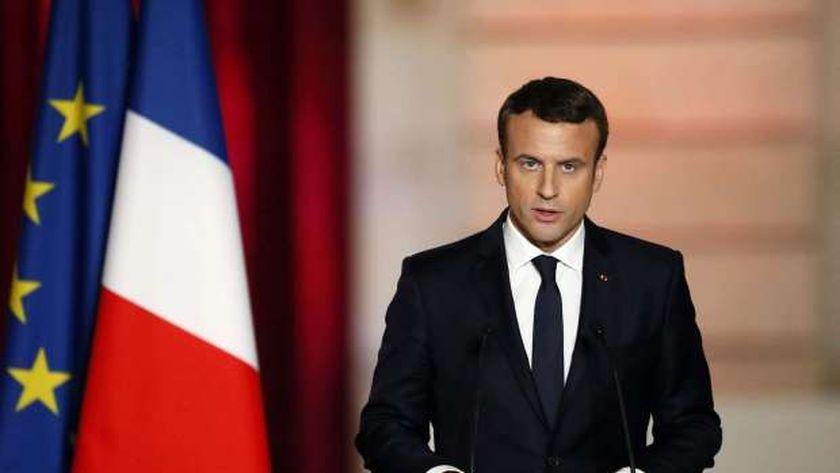 الرئيس الفرنسى ايمانويل ماكرون