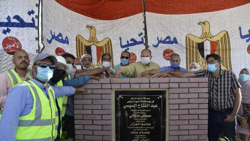 محافظ أسيوط يضع حجر أساس مشروع توسعات محطة معالحة صرف صحي الزرابي