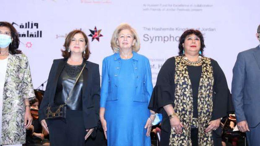 الدكتورة إيناس عبد الدايم وزيرة الثقافة ونظيرتها الأردنية