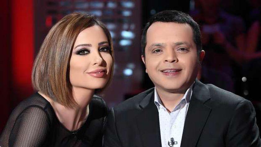 النجم محمد هنيدي والإعلامية وفاء الكيلاني