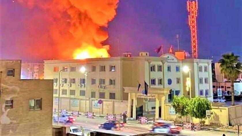 حريق إدارة مرور السويس