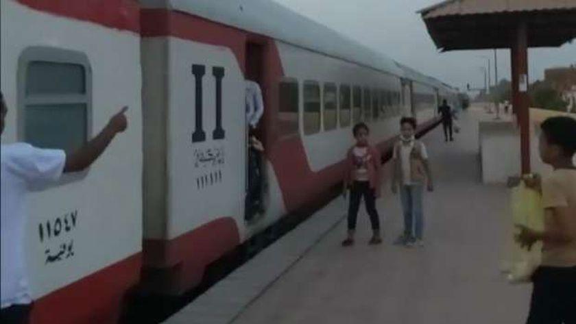 أحد القطارات في محطة مصر