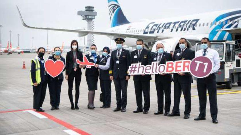 أول رحلة لمطار برلين الجديد