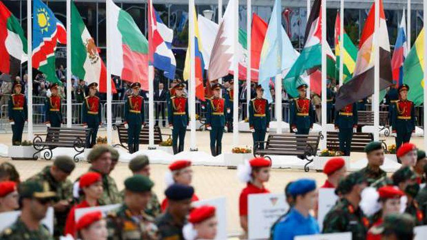 جانب من فعاليات إطلاق مسابقات المباريات الحربية الدولية 2021