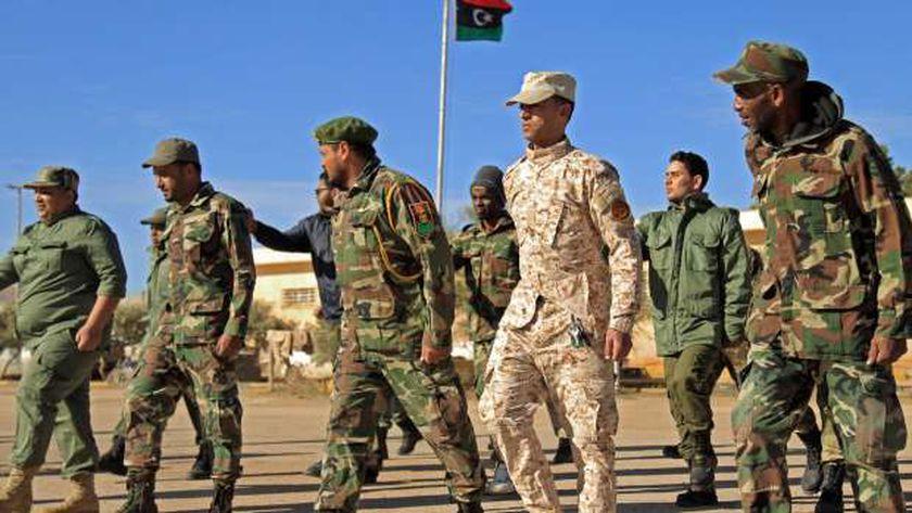 عناصر من الجيش الوطنى الليبى