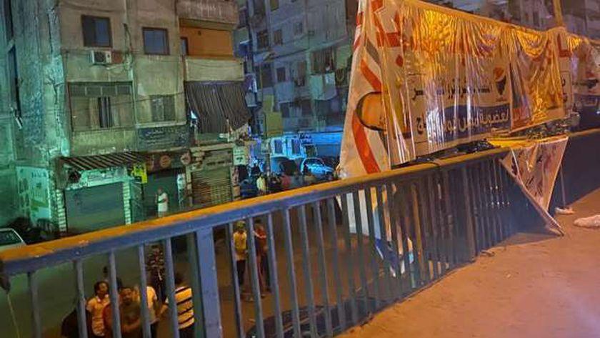 تمزيق اللافتات الإنتخابية بشبرا