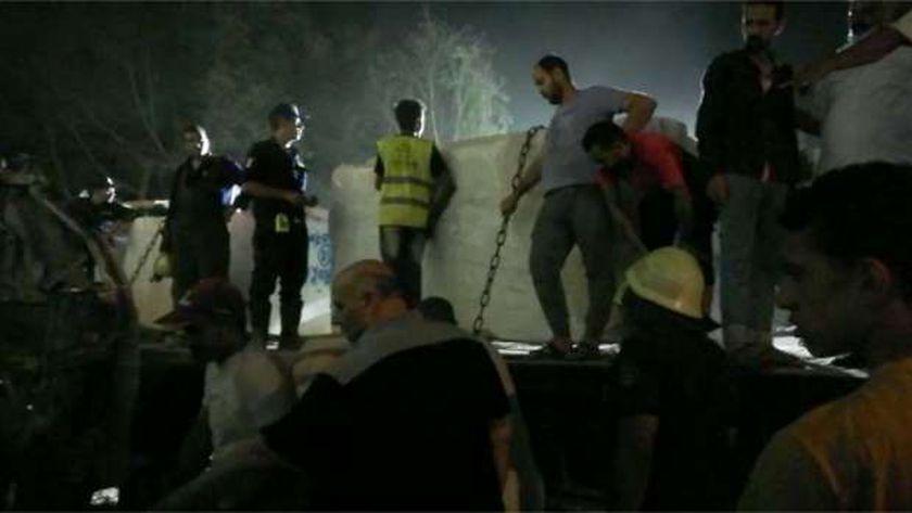 لقطات من موقع الحادث