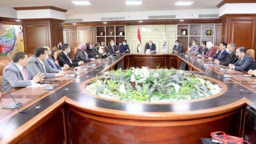 تفاصيل لقاء محافظ بني سويف مع أعضاء مجلسي النواب والشيوخ