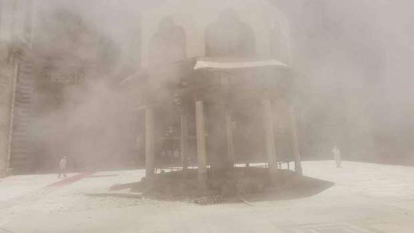 انهيار جزء من فوارة السلطان حسن