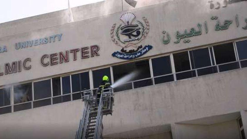 إخلاء آمن ومحاكاة حريق بجامعة المنصورة