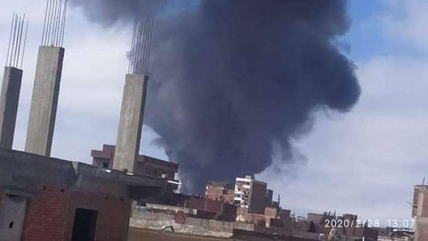 السيطرة على حريق داخل مخزن بالمنطقة الحرة غربي الإسكندرية