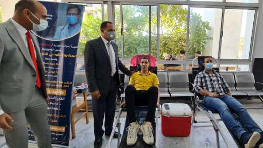 حملة للتبرع بالبلازما بجامعة دمنهور