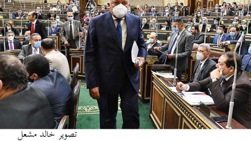 صورة كلمة «شكري» أمام النواب: مياه النيل الملف الأهم بأجندتنا الخارجية – مصر