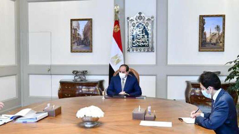 السيسي يوجه بتدقيق كافة الدراسات الخاص باستصلاح الأراضي في سيناء