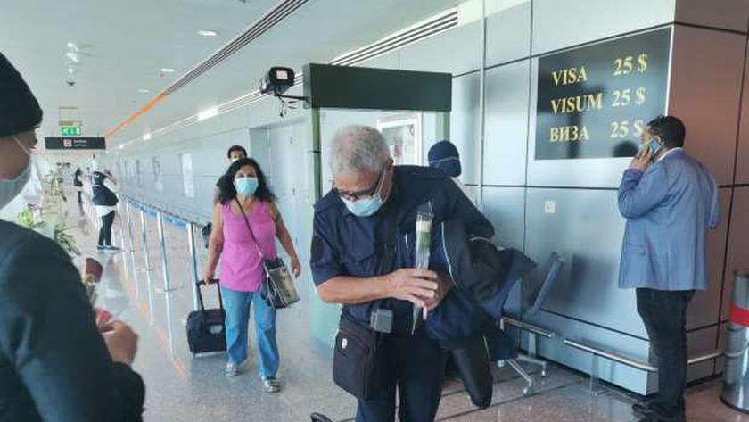 مطار الغردقة يستقبل رحلة طيران قادمة من كييف وعلى متنها 189 سائحا