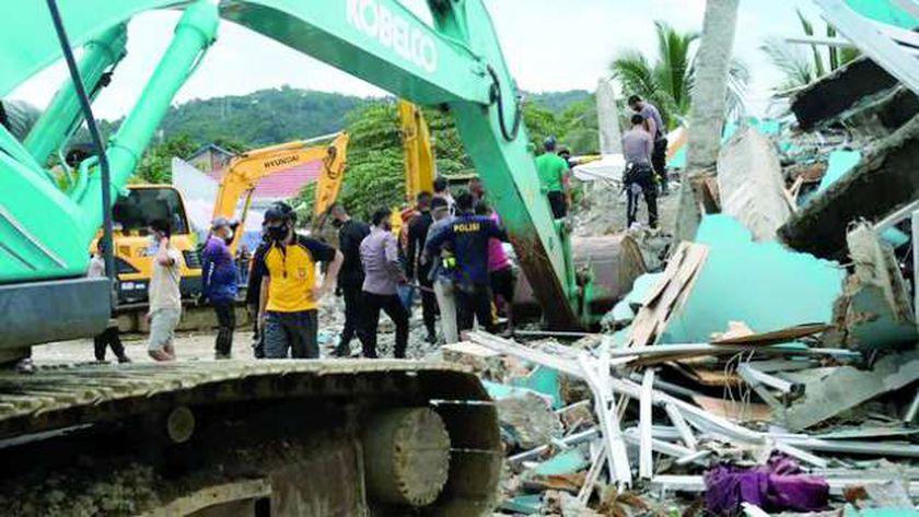 زلزال إندونيسيا دمر أعداداً كبيرة من المبانى