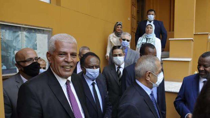وفد من جامعة الدول العربية يزور السفير اللبناني بالقاهرة