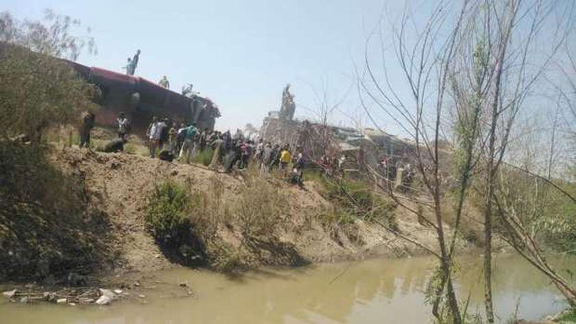حادثة تصادم قطارين بسوهاج - صورة أرشيفية