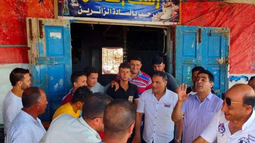 المرشحون لمجلس الشيوخ خلال جولات انتخابية في كفر الشيخ