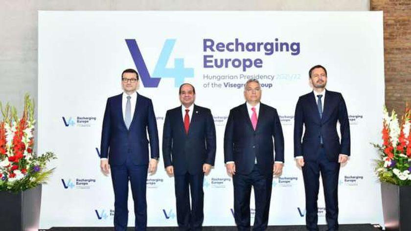 الرئيس السيسي خلال مشاركته في قمة فيشجراد