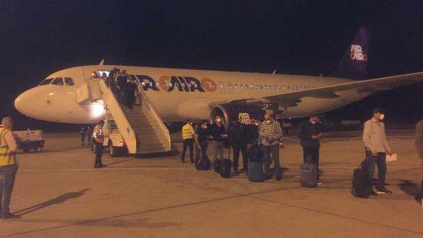 وصول طائرة فرانكفورت مطار مرسي علم