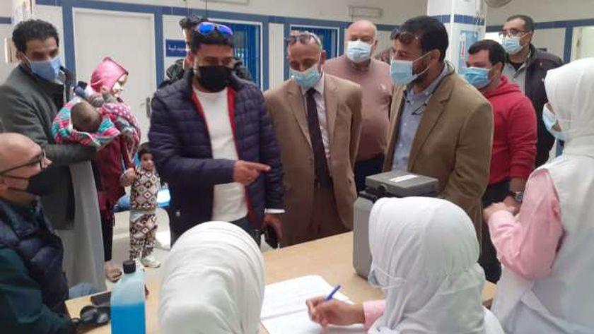 جانب من تطعيم حملة شلل الأطفال بسيدي عبدالرحمن بمطروح