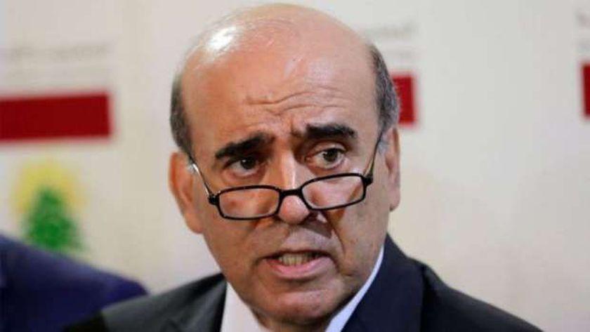 وزير الخارجية اللبنانى المستقيل شربل وهبه