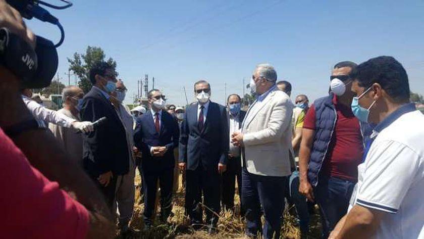وزير الزراعة يزور محافظة كفر الشيخ