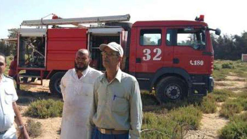 إخماد حريق غرب الإسكندرية