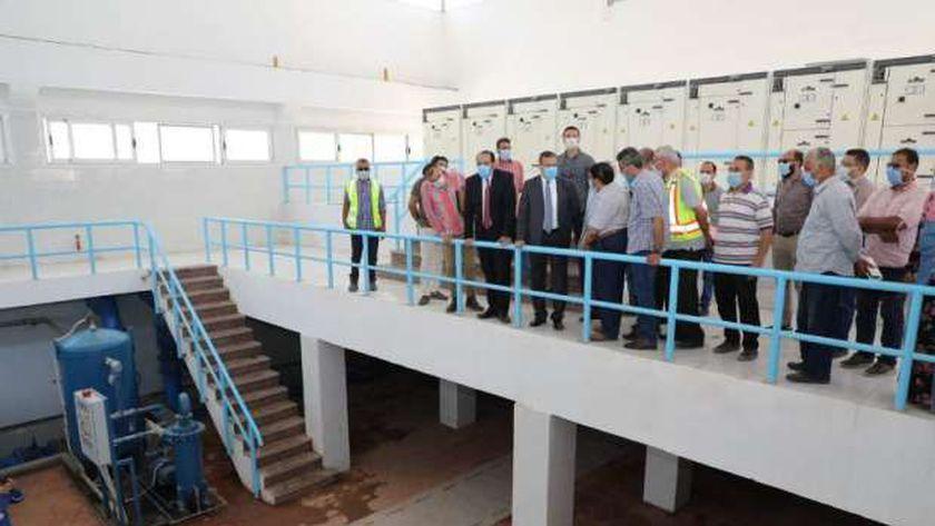 محطة مياه شرب تحت الإنشاء