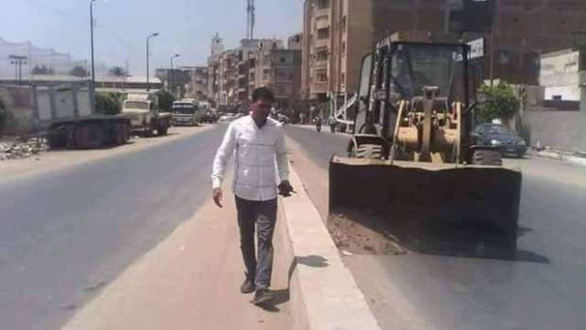 تدشين حملات نظافة لشوارع منطقة الرجبي وأبوشاهين بالمحلة والأهالي يطالبون بالتشجير الشوارع الرئيسية