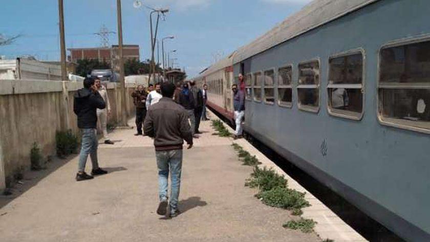 أحد قطارات السكة الحديد