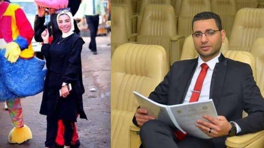 أحمد عاطف ونجلاء فتاة المول