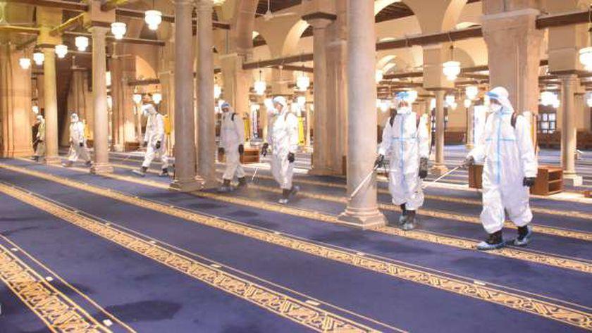 القوات المسلحة تطهر عددا من المساجد الكبرى بالتزامن مع رمضان (فيديو)