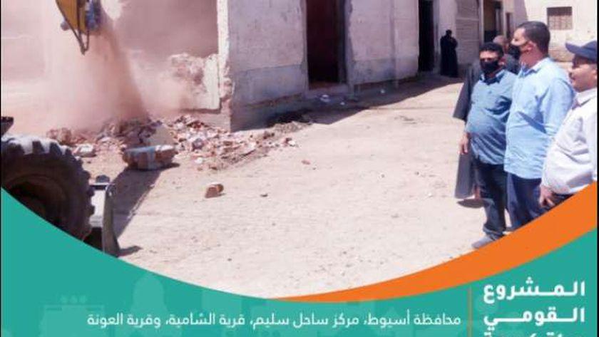أعمال مبادرة حياة كريمة في أسيوط