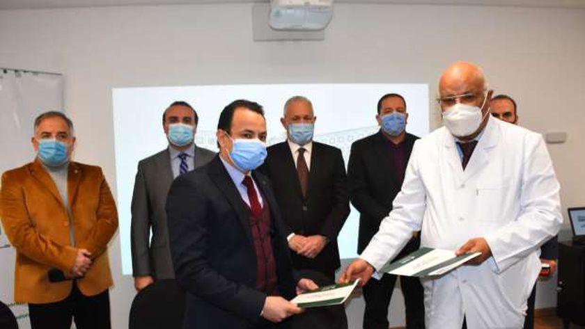 بروتوكول تعاون بين مستشفي شفاء الاورمان والحميات
